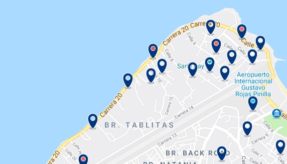 Alojamiento en la Zona Norte de San Andrés - Haz clic para ver todos el alojamiento disponible en esta zona