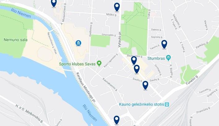 Alojamiento cerca de la estación ferroviaria de Kaunas - Haz clic para ver todos el alojamiento disponible en esta zona