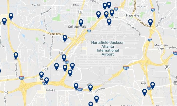 Alojamiento cerca del Aeropuerto de Atlanta - Haz clic para ver todos el alojamiento disponible en esta zona