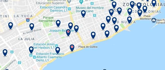 Alojamiento cerca del Malecón de Santo Domingo - Haz clic para ver todos el alojamiento disponible en esta zona