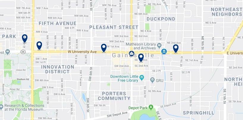 Alojamiento en Downtown Gainesville - Haz clic para ver todos el alojamiento disponible en esta zona