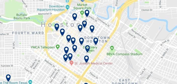 Alojamiento en Downtown Houston - Haz clic para ver todos el alojamiento disponible en esta zona