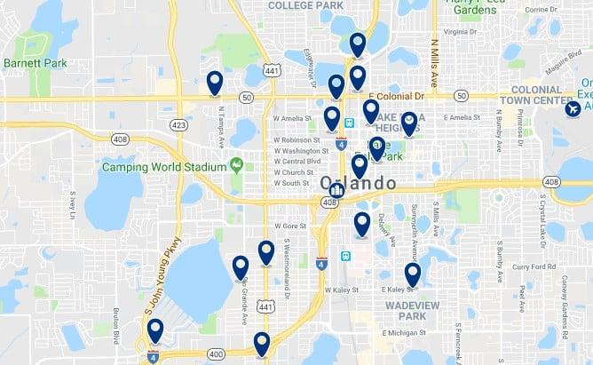 Alojamiento en Downtown Orlando - Haz clic para ver todos el alojamiento disponible en esta zona