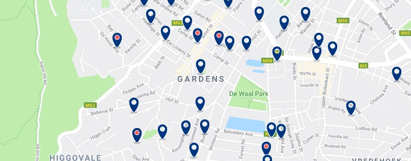 Accommodation in Gardens - Click to see all available accommodation in this area