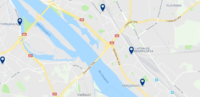 Accommodation in Latgale - Click on the map to see all available accommodation in this area