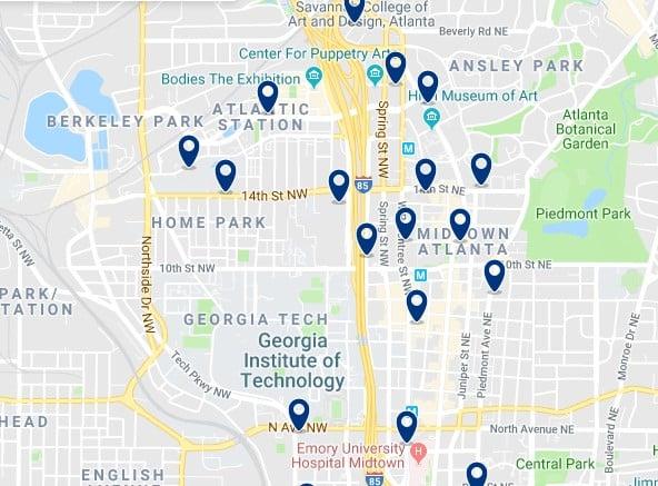 Alojamiento en Midtown Atlanta - Haz clic para ver todos el alojamiento disponible en esta zona