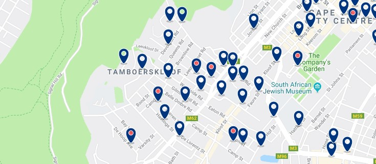 Accommodation in Tamboerskloof - Click to see all available accommodation in this area