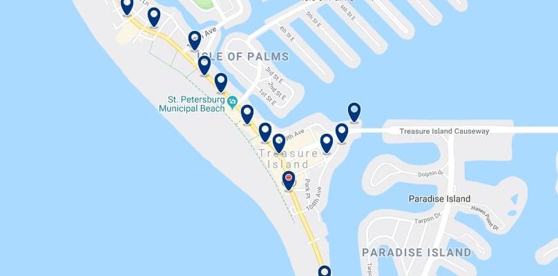Alojamiento en Treasure Island - Haz clic para ver todos el alojamiento disponible en esta zona