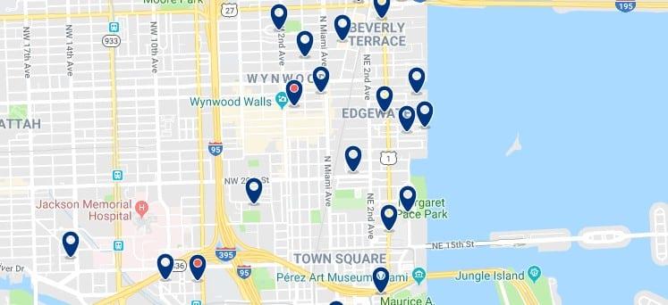 Alojamiento en el Design District de Miami - Haz clic para ver todos el alojamiento disponible en esta zona