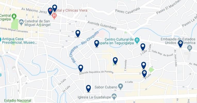 Alojamiento en la colonia Palmira y cercanías de la embajada de EEUU - Haz clic para ver todos el alojamiento disponible en esta zona
