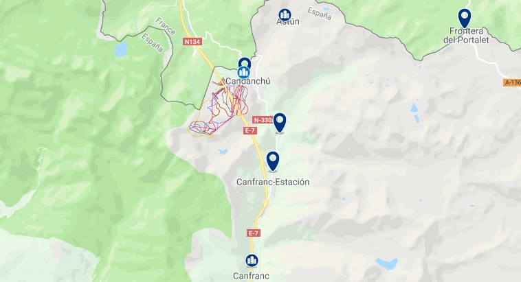 Alojamiento cerca de Candanchú - Haz clic para ver todos el alojamiento disponible en esta zona