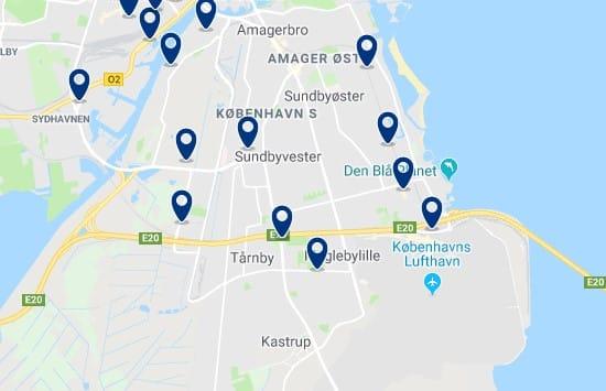 Alojamiento en Amager - Haz clic para ver todos el alojamiento disponible en esta zona