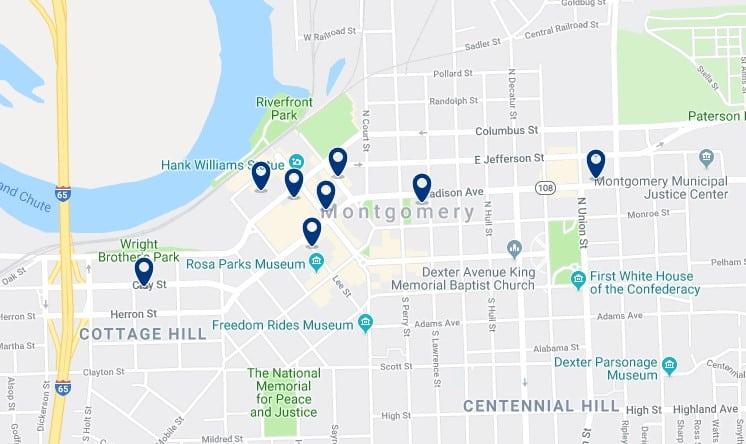 Alojamiento en Downtown Montgomery - Haz clic para ver todos el alojamiento disponible en esta zona