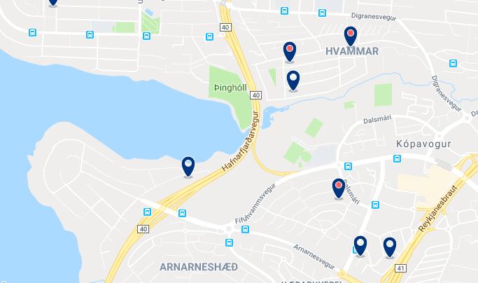 Alojamiento en Kópavogur – Haz clic para ver todo el alojamiento disponible en esta zona