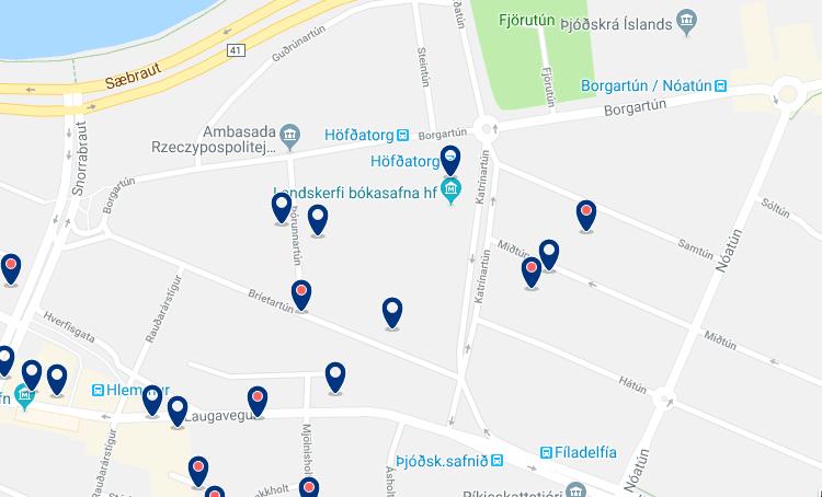 Alojamiento en Reikiavik Este – Haz clic para ver todo el alojamiento disponible en esta zona