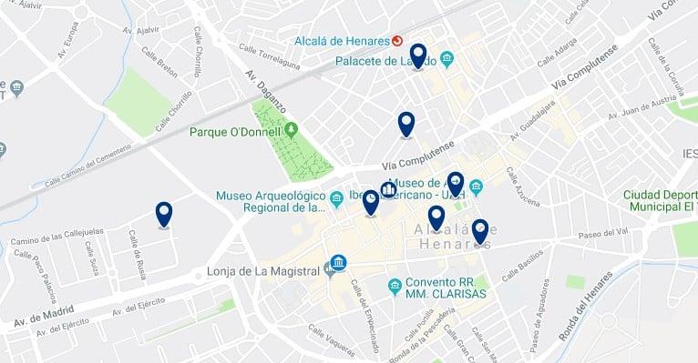 Alojamiento en el Centro Histórico de Alcalá de Henares - Haz clic para ver todos el alojamiento disponible en esta zona