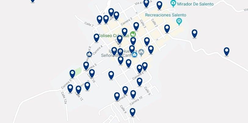 Alojamiento en Salento - Haz clic para ver todos el alojamiento disponible en esta zona