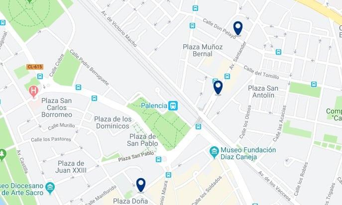 Alojamiento cerca de la estación de trenes de Palencia - Haz clic para ver todos el alojamiento disponible en esta zona