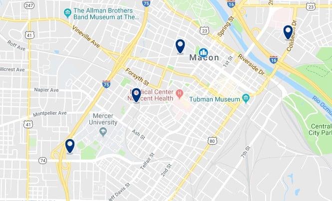 Alojamiento en Downtown Macon - Haz clic para ver todos el alojamiento disponible en esta zona