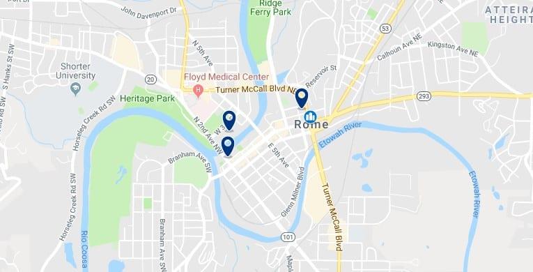 Alojamiento en Downtown Rome, Georgia - Haz clic para ver todos el alojamiento disponible en esta zona