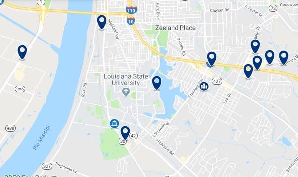 Alojamiento cerca de la Louisiana State University - Haz clic para ver todos el alojamiento disponible en esta zona