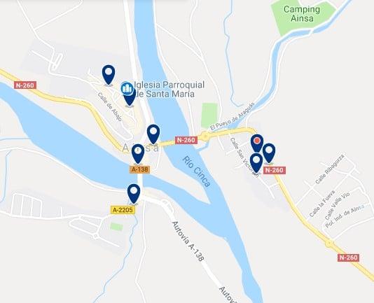 Alojamiento en Aínsa - Haz clic para ver todos el alojamiento disponible en esta zona