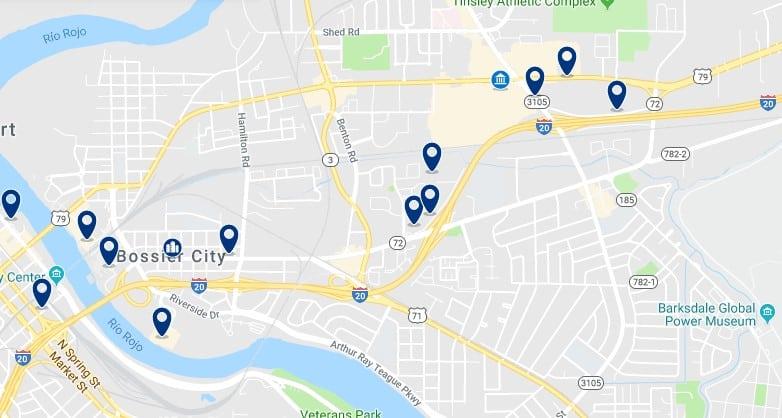 Alojamiento en Bossier City - Haz clic para ver todos el alojamiento disponible en esta zona