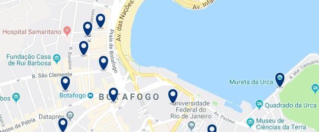 Alojamiento en Botafogo - Clica sobre el mapa para ver todo el alojamiento en esta zona