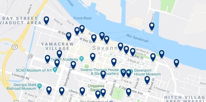 Alojamiento en Downtown Savannah - Haz clic para ver todos el alojamiento disponible en esta zona