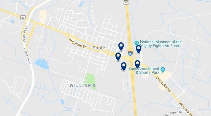 Alojamiento en Pooler - Haz clic para ver todos el alojamiento disponible en esta zona