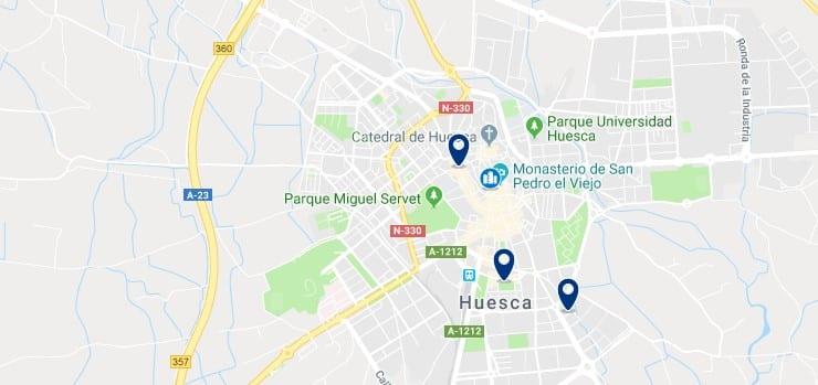 Alojamiento en el Centro Histórico de Huesca - Haz clic para ver todos el alojamiento disponible en esta zona