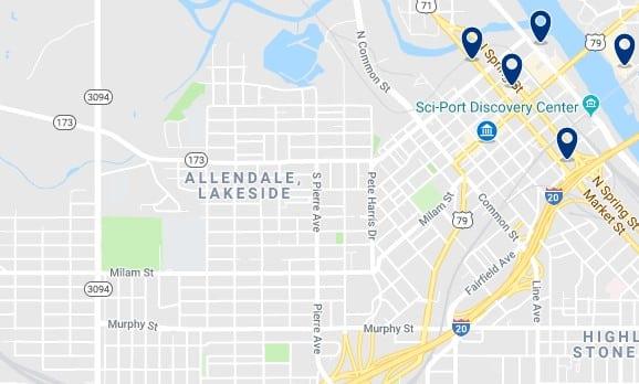 Alojamiento en el Distrito Histórico de Shreveport - Haz clic para ver todos el alojamiento disponible en esta zona