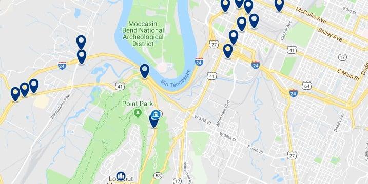 Alojamiento cerca de Lookout Mountain - Haz clic para ver todos el alojamiento disponible en esta zona