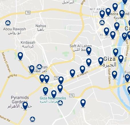 Alojamiento en Giza - Haz clic para ver todos el alojamiento disponible en esta zona