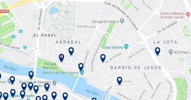 Alojamiento en el Arrabal de Zaragoza - Haz clic para ver todos el alojamiento disponible en esta zona