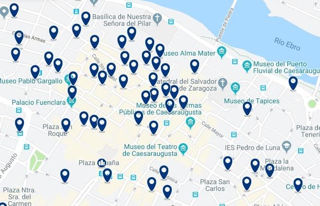 Alojamiento en el Centro Histórico de Zaragoza - Haz clic para ver todos el alojamiento disponible en esta zona
