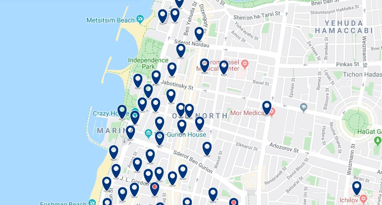 Alojamiento en el Old North de Tel Aviv - Haz clic para ver todos el alojamiento disponible en esta zona