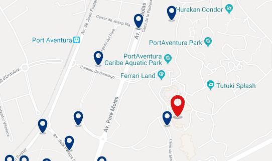 Alojamiento en PortAventura - Haz clic para ver todo el alojamiento disponible en esta zona