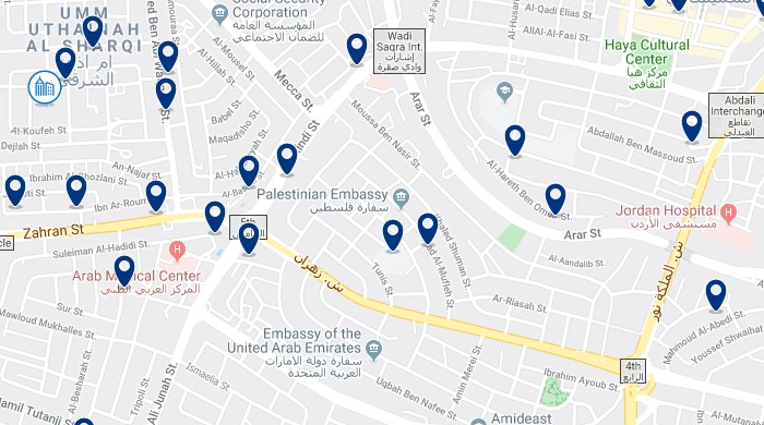 Alojamiento cerca del Taj Mall - Clica sobre el mapa para ver todo el alojamiento en esta zona