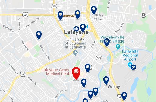 Alojamiento en Lafayette Downtown - Haz clic para ver todo el alojamiento disponible en esta zona