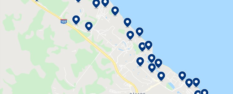 Accommodation in Playa Bávaro - Click on the map to see all available accommodation in this area