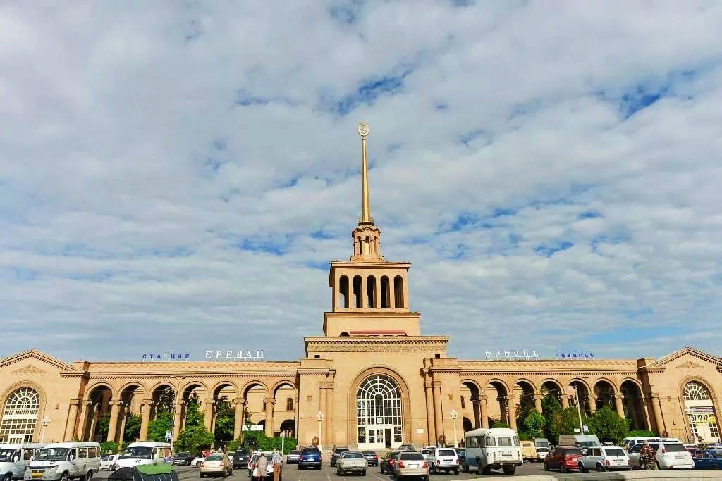 Zona recomendada donde alojarse en Ereván - Cerca de la Estación Central de trenes