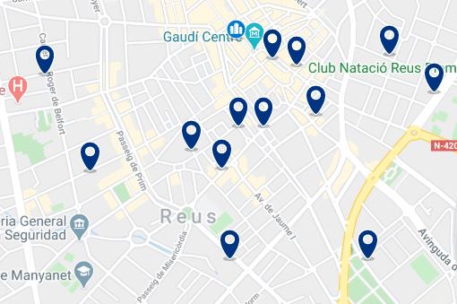 Alojamiento en el centro de Reus - Haz clic para ver todo el alojamiento disponible en esta zona