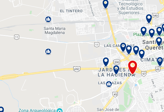 Alojamiento cerca del Centro Comercial Galerias Querétaro - Haz clic para ver todo el alojamiento disponible en esta zona