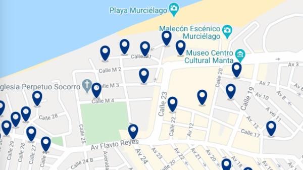 Alojamiento cerca del Puerto de Manta – Haz clic para ver todo el alojamiento disponible en esta zona