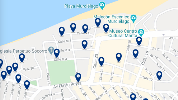 Accommodation near Port of Marta – Click on the map to see all available accommodation in this area