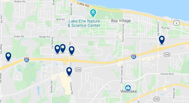 Alojamiento en Westlake - Click on the map to see all available accommodation in this area