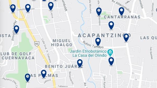 Alojamiento en Acapantzingo – Haz clic para ver todo el alojamiento disponible en esta zona