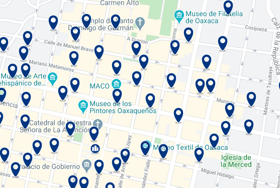 Alojamiento en el Centro Histórico - Click on the map to see all available accommodation in this area