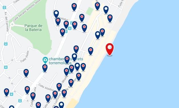Alojamiento en La Carihuela - Clica sobre el mapa para ver todo el alojamiento en esta zona